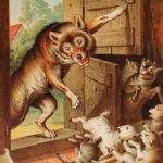 الذئب والخراف السبعة اجمل قصة أطفال قبل النوم من التراث