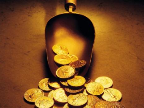 قطع نقود ذهبية