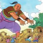 قصص وحواديت قصة العملاق وملك الاقزام للأطفال من عمر 4 سنوات