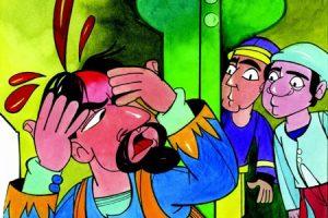 قصص خيالية قصيرة مضحكة هل يستطيع الإنسان أن يعض أذن نفسه