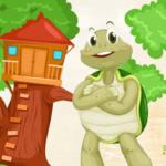 قصة السلحفاة الحكيمة وكوخ الأصدقاء الأربعة قصة مسلية للاطفال