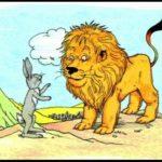 قصة الأرنب والأسد قصة جميلة من قصص الحيوانات بقلم : نسيبة محمود طالب