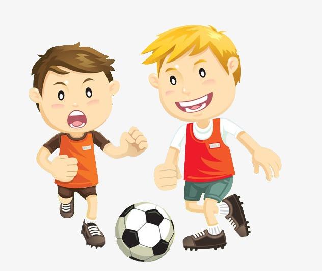 ولد يلعب كرة القدم
