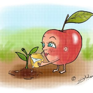 قصة التفاحة الساحرة قصة تعليمية مميزة للأطفال بقلم : السيد نجم