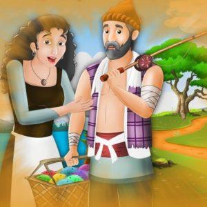 قصص اطفال الصياد وزوجته الطماعة