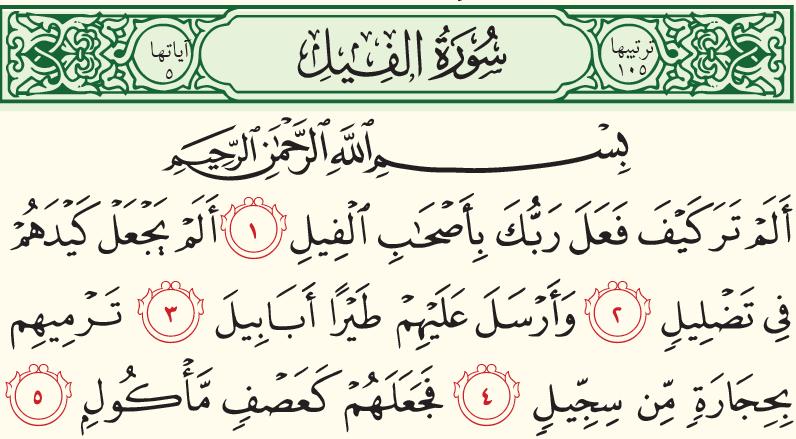 قصص القرآن سورة الفيل