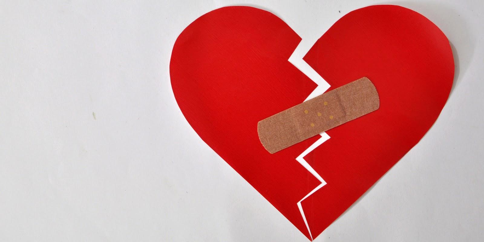 صورة قلب حزين مكسور