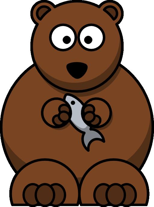 الدب الكسول والسمكة الصغيرة