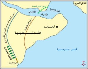 خريطة توضح شكل القسطنطينية .
