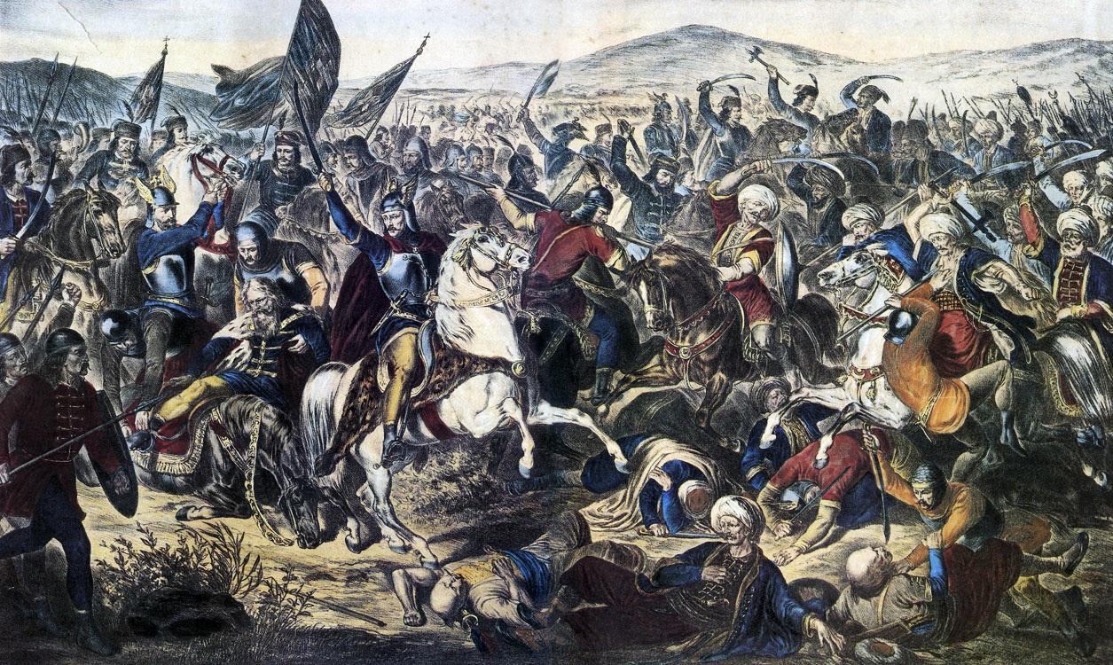 صورة توضح جيوش العثمانيين في معركة كوسوفو .