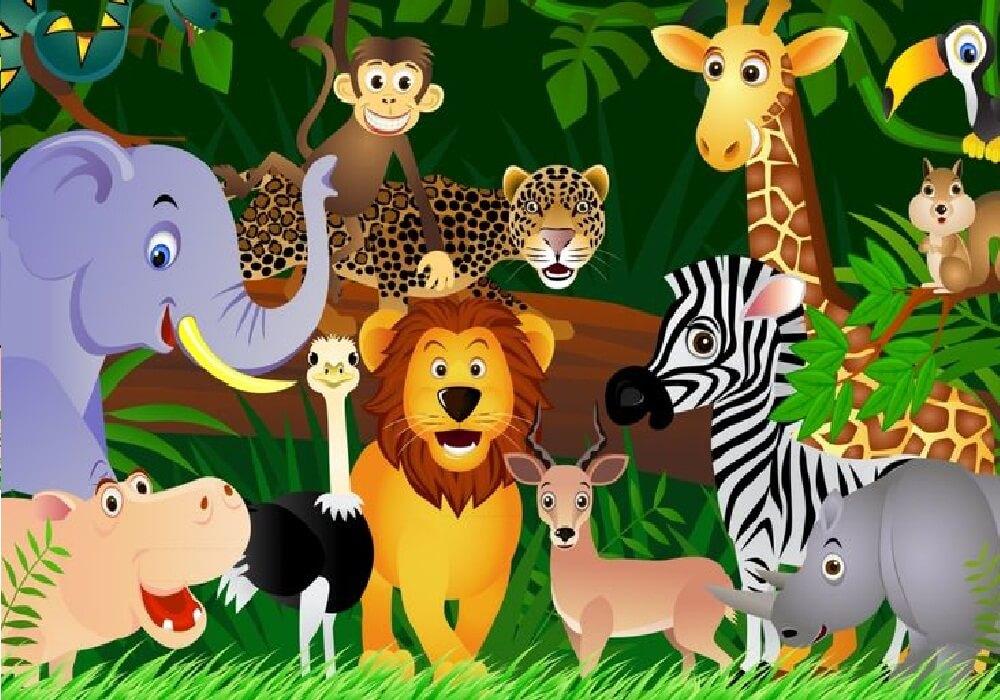 حيوانات الغابة.