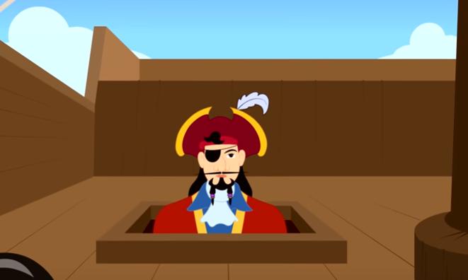 قصة بيتر بان و القبطان هوك