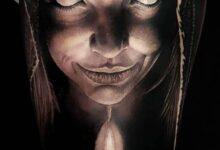 فتاة من عالم الجن مرعبة ومخيفة.