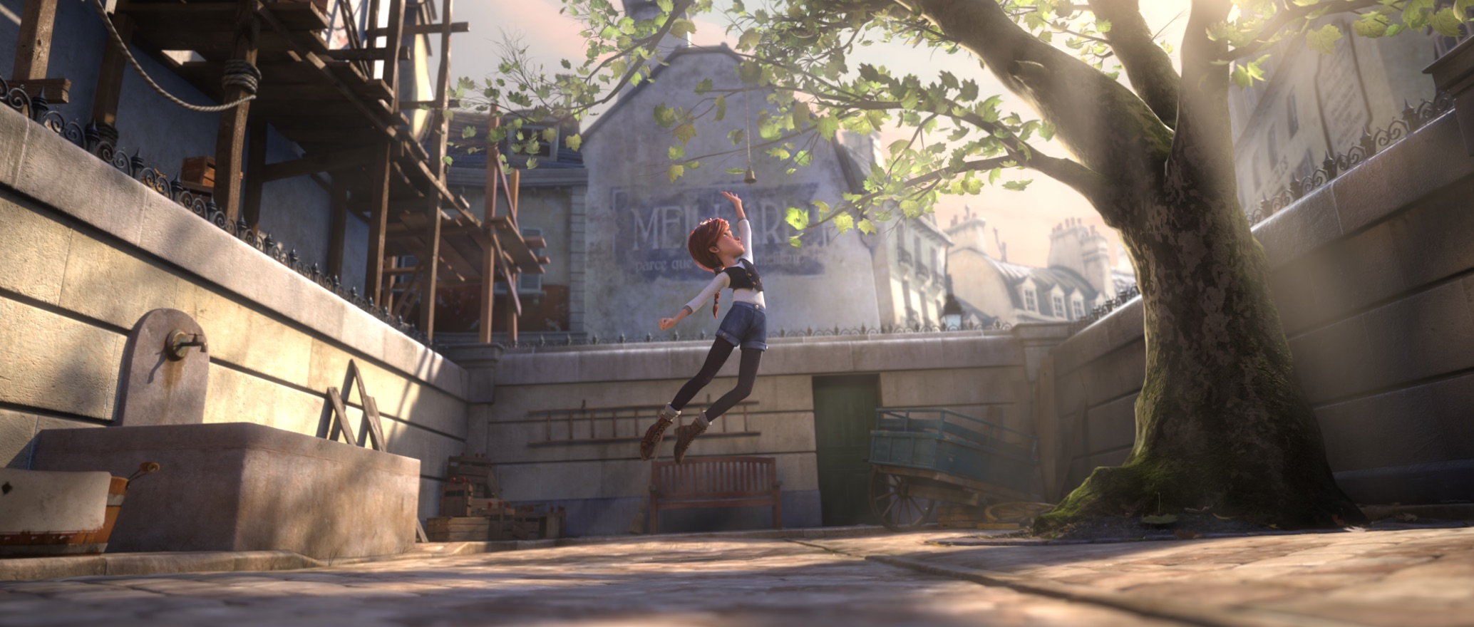 فيليسي تنجح في القفز عاليا والهبوط بخفة كالريشة.