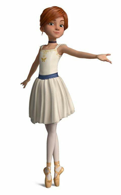 فيليسي ترتدي الملابس الخاصة برقص الباليه لأول مرة.