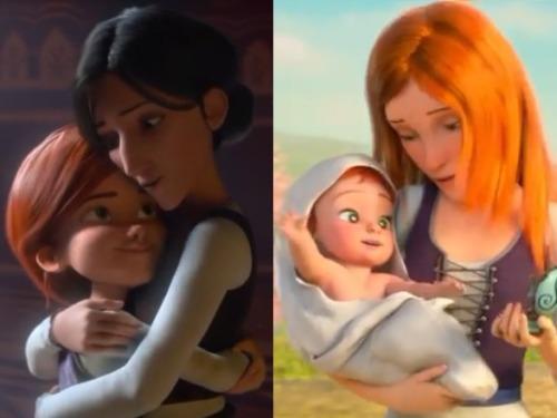 فيليسي ووالدتها وأوديت والدتها الجديدة.