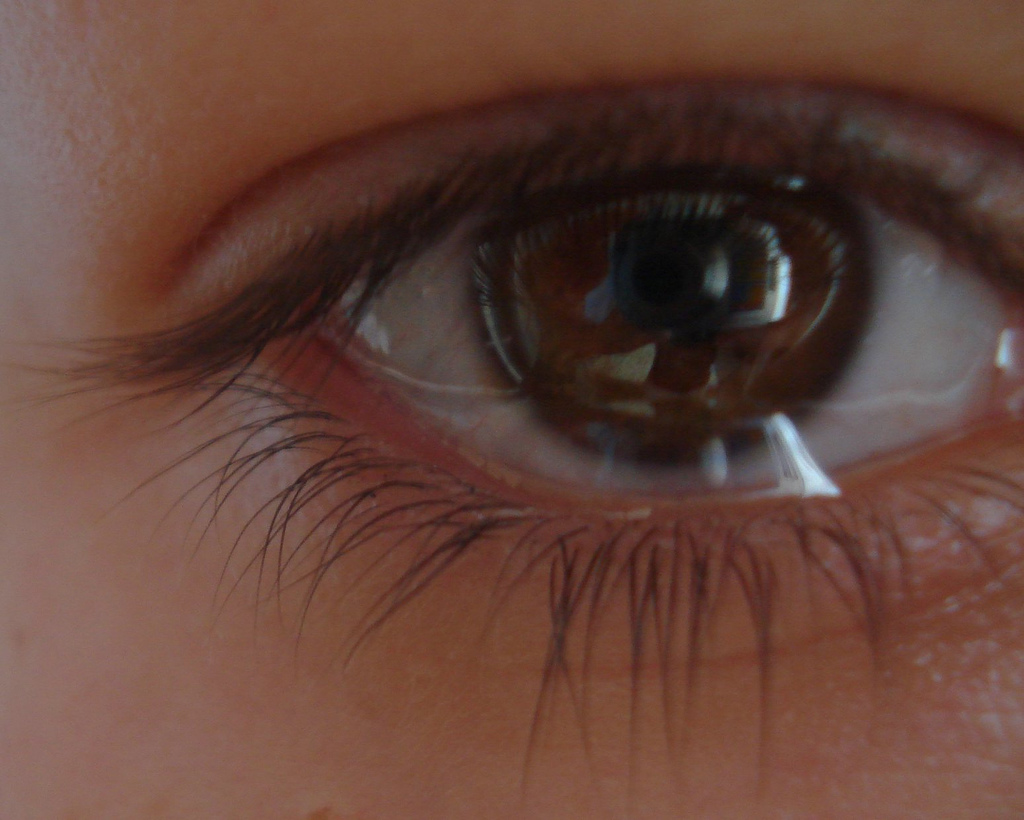 عين باكية.
