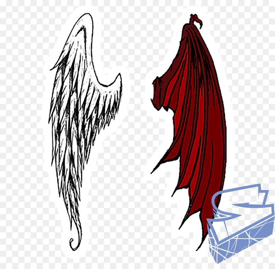صورة تجسد الملاك والشيطان.