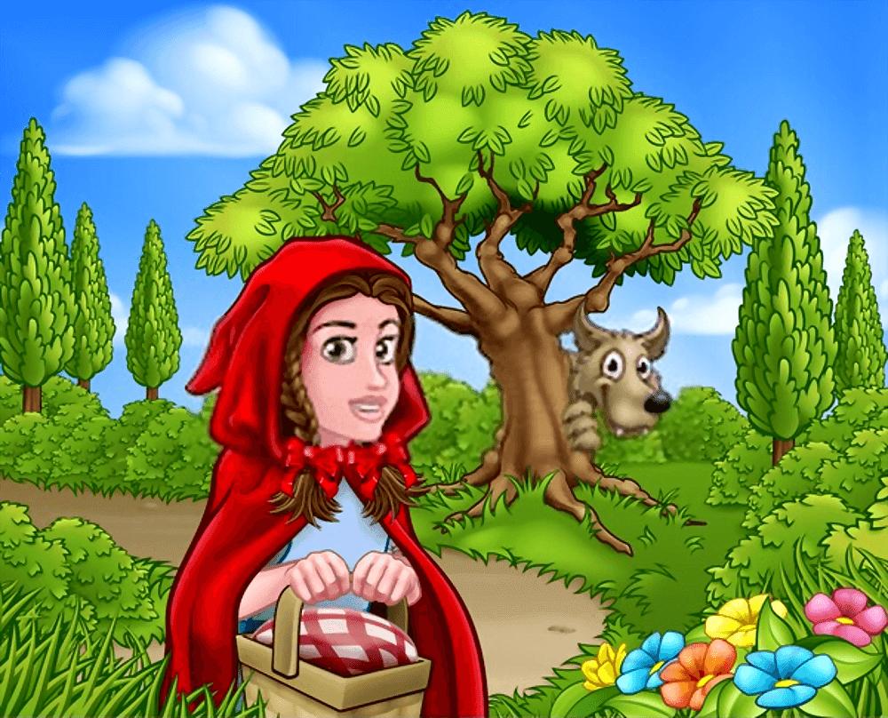 قصـــــــــة ليلى ذات الرداء الأحمر والذئب.