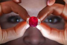 صورة خاتم بحجر كريم