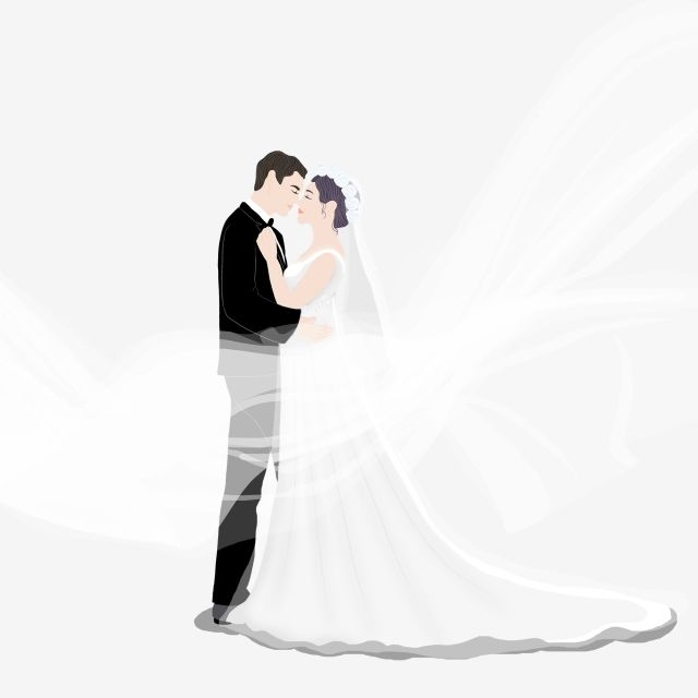 زفاف الحبيبين.