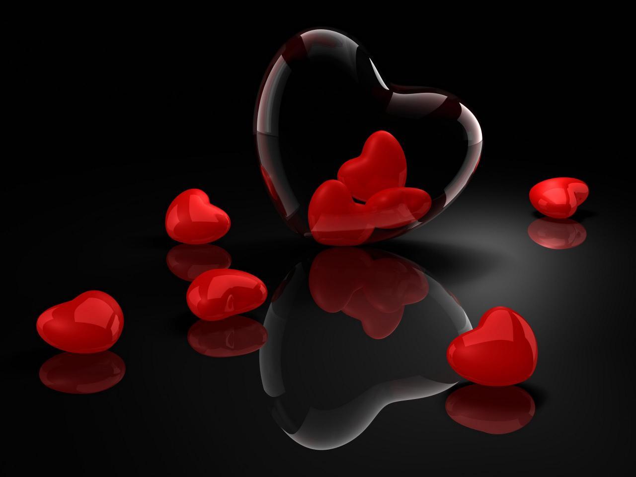 قلوب دليل على الحب.