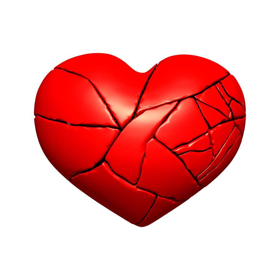 قلوب محطمة بسبب خيانة الحبيب.