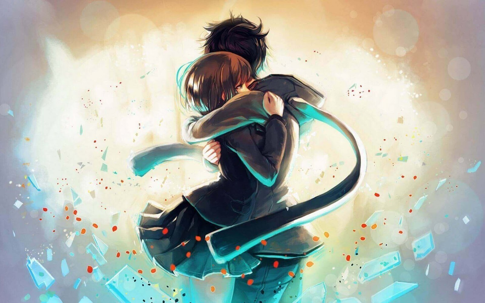 صورة دلالة على الحب الحقيقي بين الشاب والفتاة.