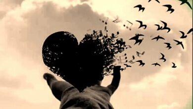 قلب لشخص حزين وموجوع.