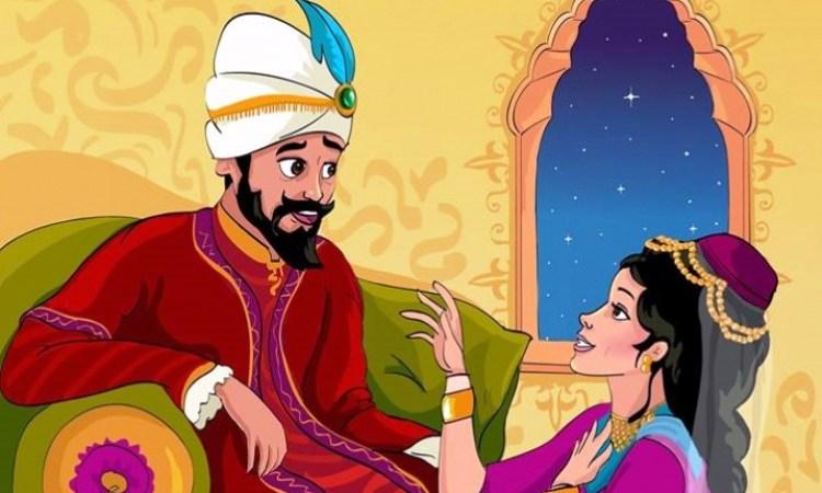 الملك يستمع لقصة