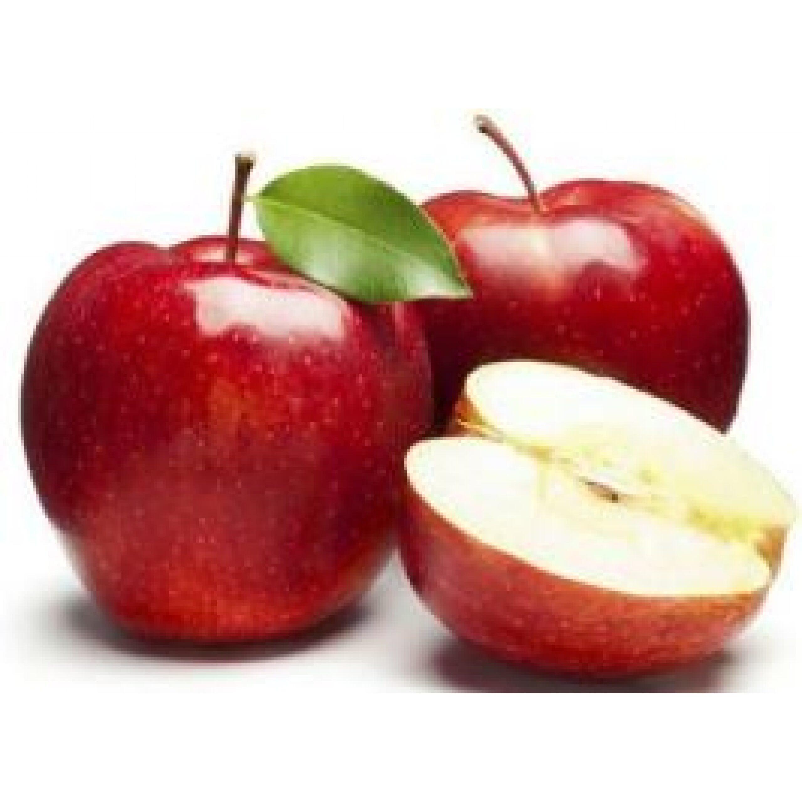 التفاح أحمر اللون