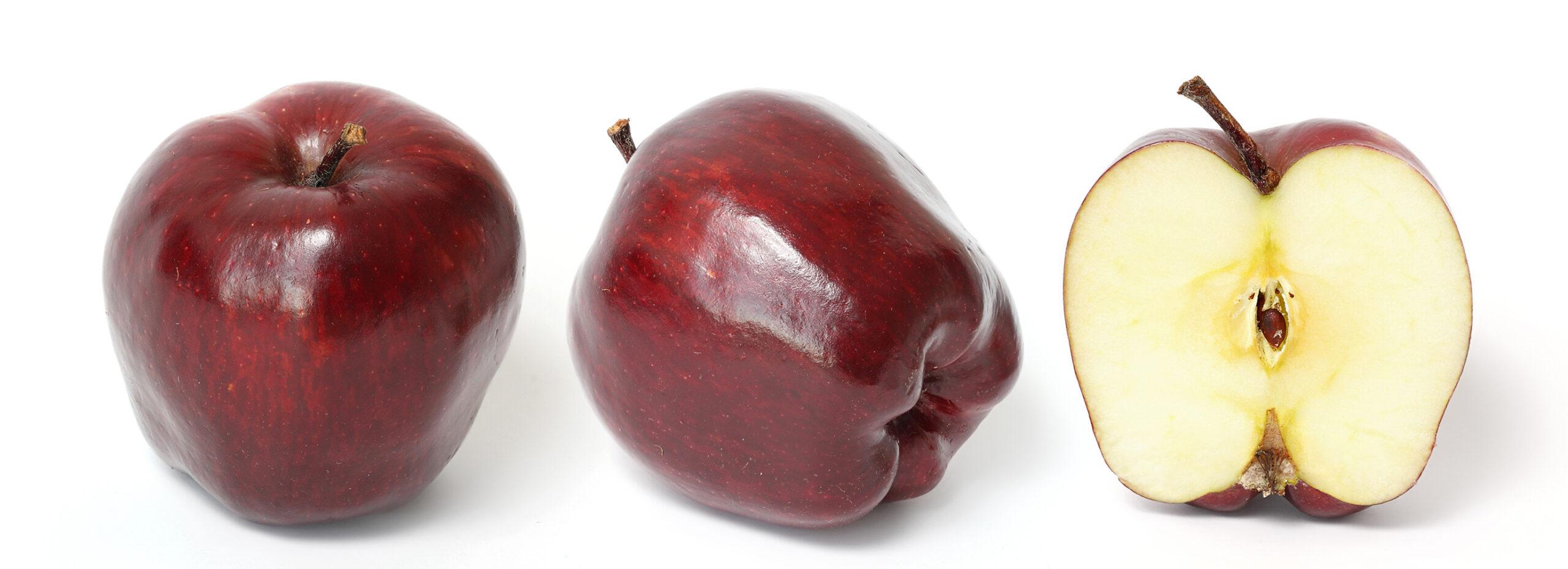 تفاح أحمر اللون