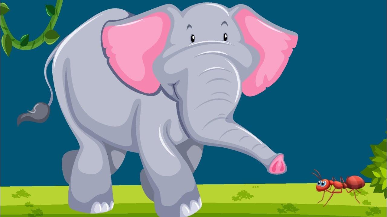 الفيل المغرور والنملة الذكية