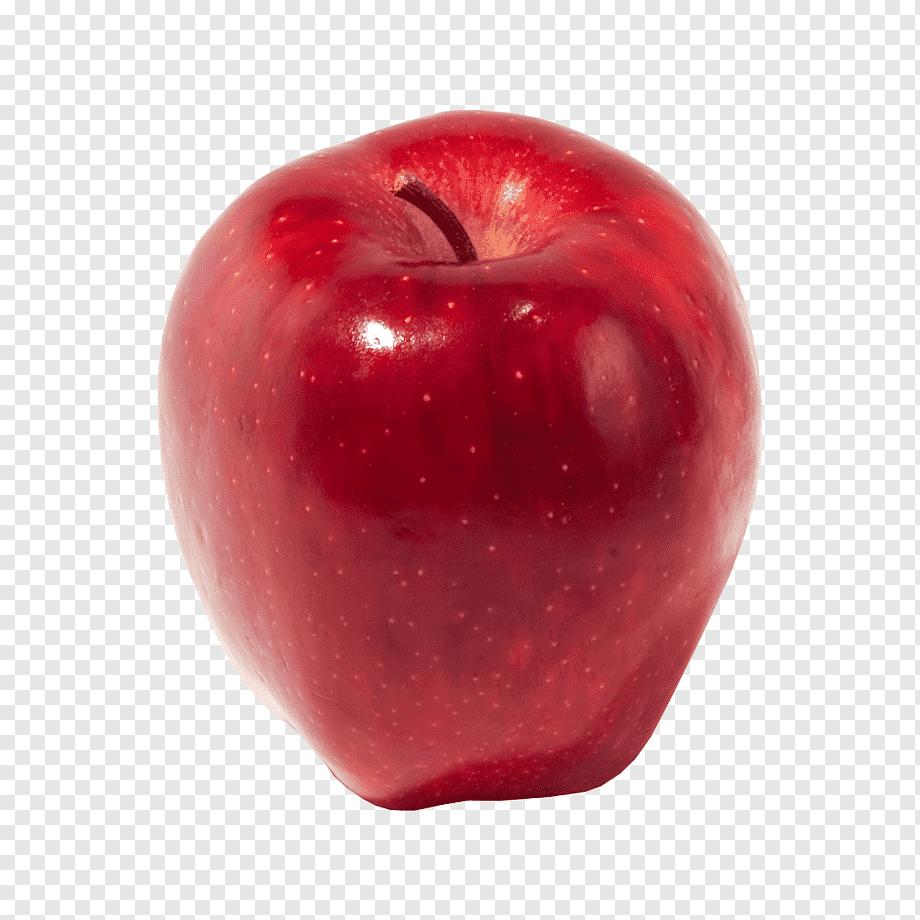 تفاحة حمراء اللون