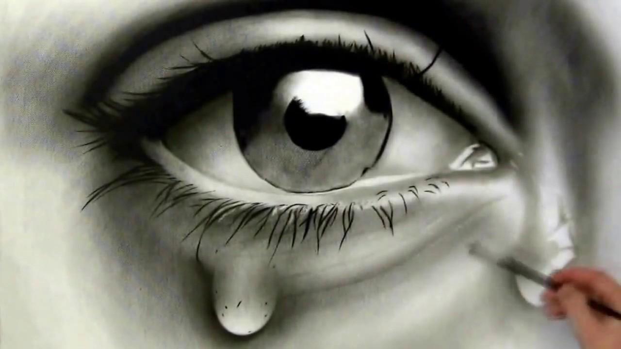 صورة مرسومة عن عين باكية
